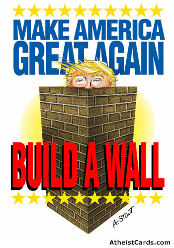 build a wall around trump build wall