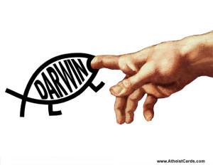 Darwin Bites Creator's Finger