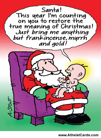 Santa Jesus Christmas Card
