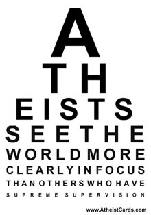 Atheist Eye Chart