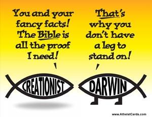 Creationist Vs. Darwin Fish