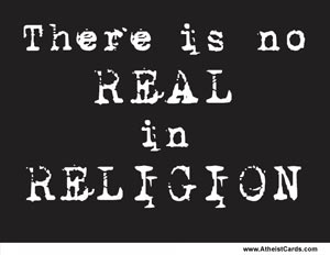 There is No Real in Religion